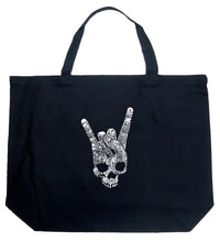 Load image into Gallery viewer, LA Pop Art Large Word Art Tote Bag - Heavy Metal Genres