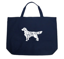 Load image into Gallery viewer, LA Pop Art Large Word Art Tote Bag - Golden Retreiver
