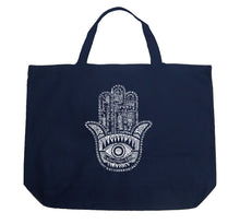 Load image into Gallery viewer, LA Pop Art Large Word Art Tote Bag - Hamsa