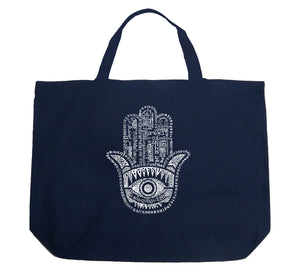 LA Pop Art Large Word Art Tote Bag - Hamsa