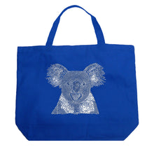 Load image into Gallery viewer, LA Pop Art Large Word Art Tote Bag - Koala