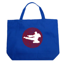 Load image into Gallery viewer, LA Pop Art Large Word Art Tote Bag - Types of Martial Arts