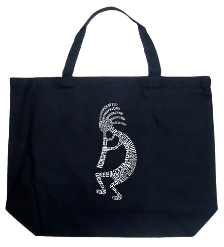 LA Pop Art Large Word Art Tote Bag - Kokopelli