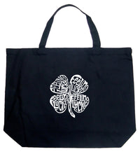 Load image into Gallery viewer, LA Pop Art Large Word Art Tote Bag - Feeling Lucky