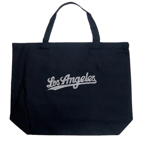 LA Pop Art Large Word Art Tote Bag - LOS ANGELES NEIGHBORHOODS