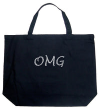 Load image into Gallery viewer, LA Pop Art Large Word Art Tote Bag - OMG