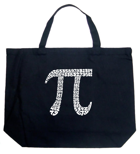 LA Pop Art Large Word Art Tote Bag - THE FIRST 100 DIGITS OF PI