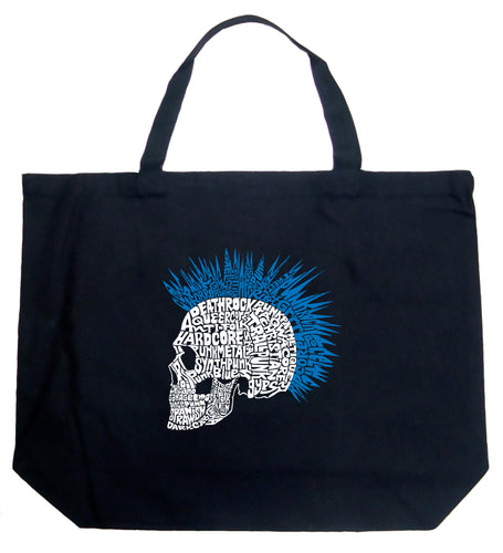 LA Pop Art Large Word Art Tote Bag - Punk Mohawk