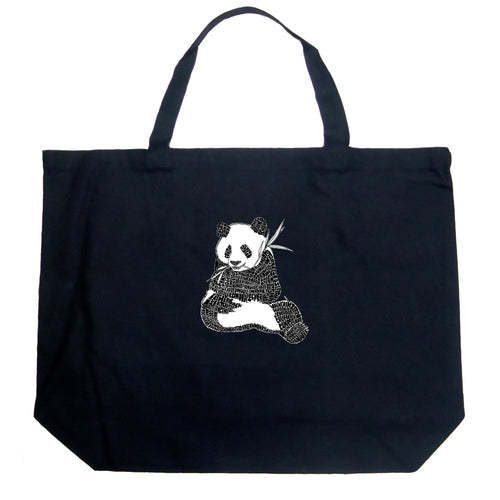 LA Pop Art Large Word Art Tote Bag - ENDANGERED SPECIES