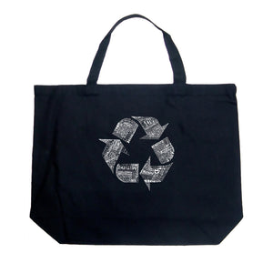 LA Pop Art Large Word Art Tote Bag - 86 RECYCLABLE PRODUCTS