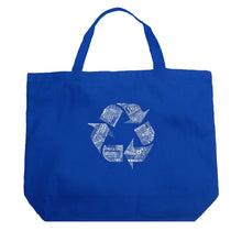 Load image into Gallery viewer, LA Pop Art Large Word Art Tote Bag - 86 RECYCLABLE PRODUCTS