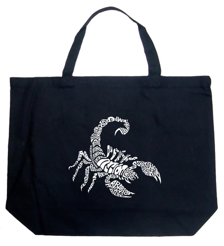 LA Pop Art Large Word Art Tote Bag - Types of Scorpions