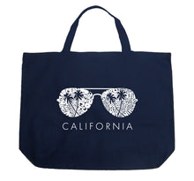 Load image into Gallery viewer, LA Pop Art Large Word Art Tote Bag - California Shades