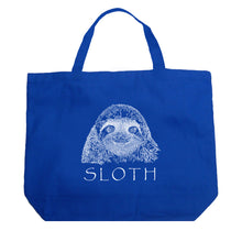 Load image into Gallery viewer, LA Pop Art Large Word Art Tote Bag - Sloth