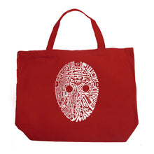 Load image into Gallery viewer, LA Pop Art Large Word Art Tote Bag - Slasher Movie Villians