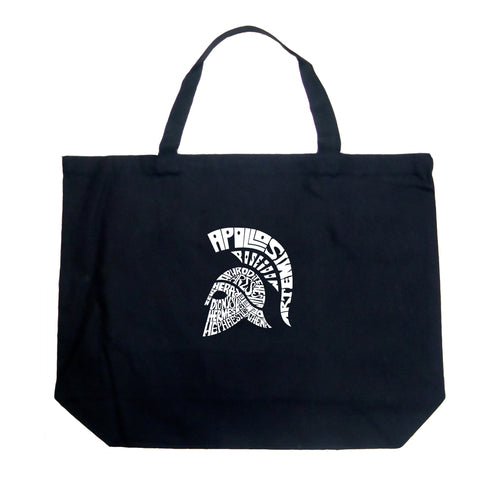 LA Pop Art Large Word Art Tote Bag - SPARTAN