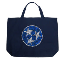 Load image into Gallery viewer, LA Pop Art Large Word Art Tote Bag - Tennessee Tristar