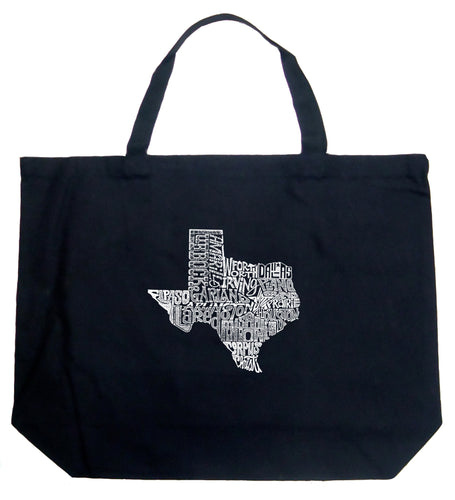 LA Pop Art Large Word Art Tote Bag - The Great State of Texas