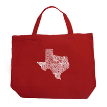 Load image into Gallery viewer, LA Pop Art Large Word Art Tote Bag - The Great State of Texas