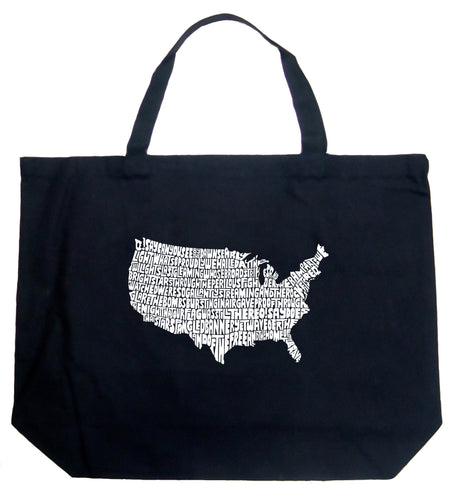 LA Pop Art Large Word Art Tote Bag - THE STAR SPANGLED BANNER
