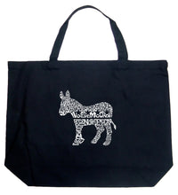 Load image into Gallery viewer, LA Pop Art Large Word Art Tote Bag - I Vote Democrat