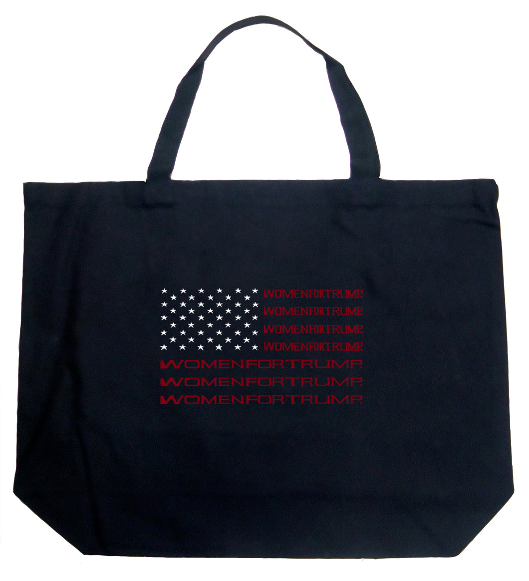 LA Pop Art Large Word Art Tote Bag - Women For Trump