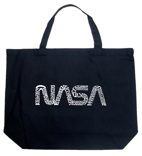 LA Pop Art Large Word Art Tote Bag - Worm Nasa