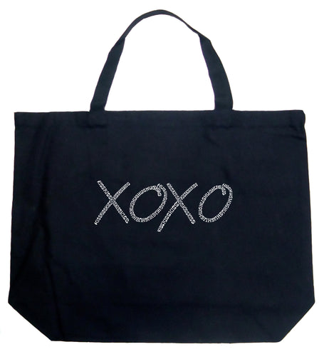 LA Pop Art Large Word Art Tote Bag - XOXO