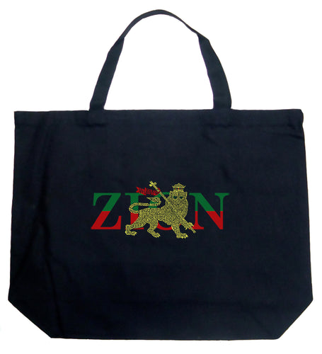 LA Pop Art Large Word Art Tote Bag - Zion - One Love