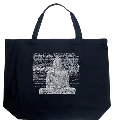 LA Pop Art Large Word Art Tote Bag - Zen Buddha
