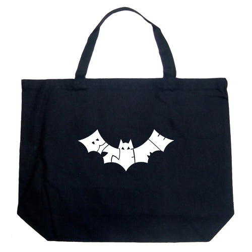 LA Pop Art Large Word Art Tote Bag - BAT - BITE ME