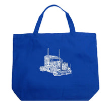 Load image into Gallery viewer, LA Pop Art Large Word Art Tote Bag - KEEP ON TRUCKIN'