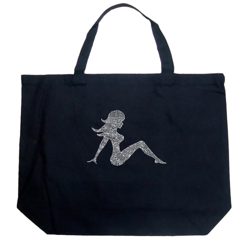 LA Pop Art Large Word Art Tote Bag - MUDFLAP GIRL