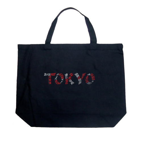 LA Pop Art Large Word Art Tote Bag - THE NEIGHBORHOODS OF TOKYO