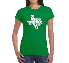 Load image into Gallery viewer, LA Pop Art Women's Word Art T-Shirt - DONT MESS WITH TEXAS