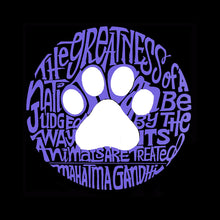 Load image into Gallery viewer, LA Pop Art Boy's Word Art T-shirt - Gandhi's Quote on Animal Treatment