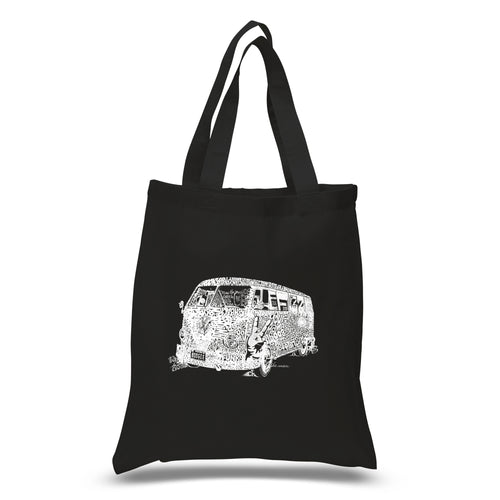 LA Pop Art Small Word Art Tote Bag - THE 70'S
