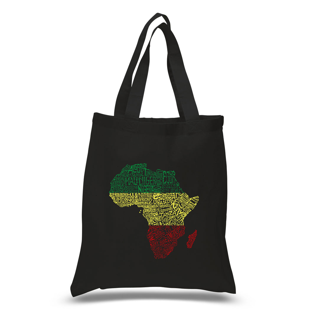 LA Pop Art Small Word Art Tote Bag - Countries in Africa