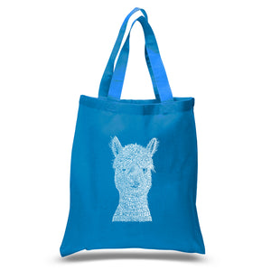 LA Pop Art Small Word Art Tote Bag - Alpaca