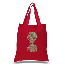 Load image into Gallery viewer, LA Pop Art Small Word Art Tote Bag - Alien