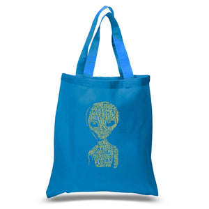 LA Pop Art Small Word Art Tote Bag - Alien