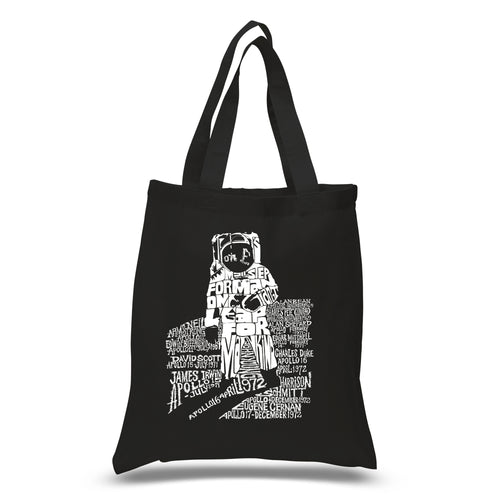 LA Pop Art Small Word Art Tote Bag - ASTRONAUT