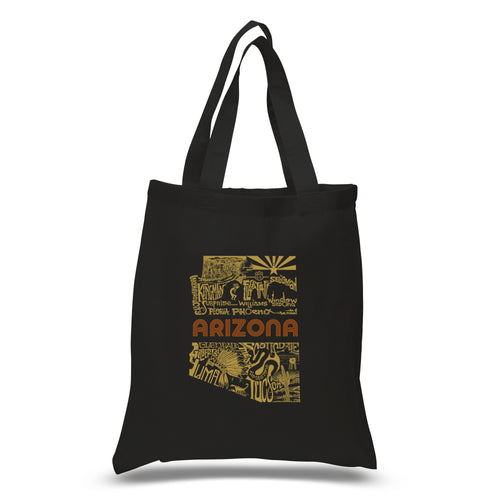 LA Pop Art Small Word Art Tote Bag - Az Pics