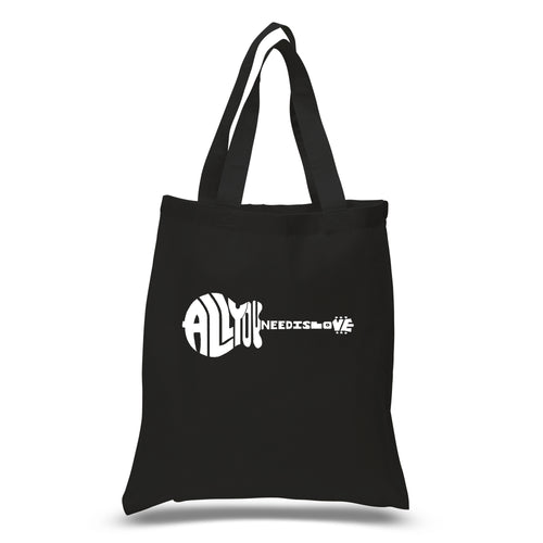 LA Pop Art Small Word Art Tote Bag - All You Need Is Love