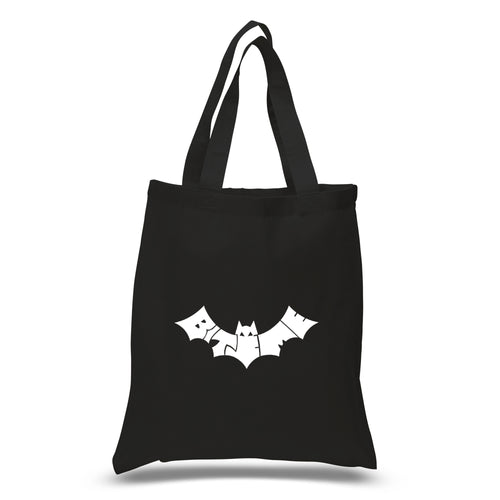 LA Pop Art Small Word Art Tote Bag - BAT - BITE ME