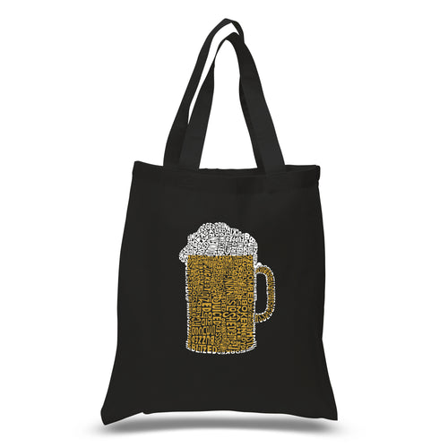 LA Pop Art Small Word Art Tote Bag - Slang Terms for Being Wasted