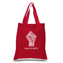 Load image into Gallery viewer, LA Pop Art Small Word Art Tote Bag - Black Lives Matter