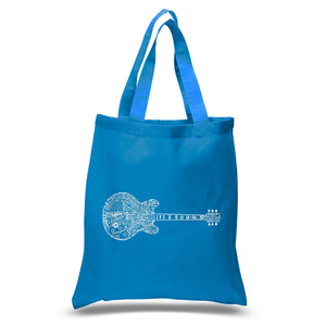 LA Pop Art Small Word Art Tote Bag - Blues Legends
