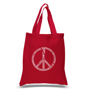 LA Pop Art Small Word Art Tote Bag - EVERY MAJOR WORLD CONFLICT SINCE 1770