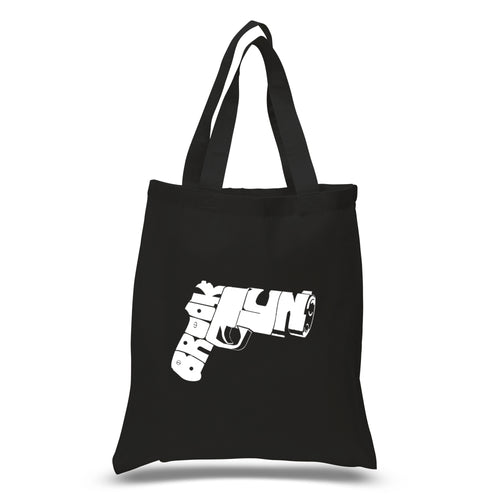 LA Pop Art Small Word Art Tote Bag - BROOKLYN GUN